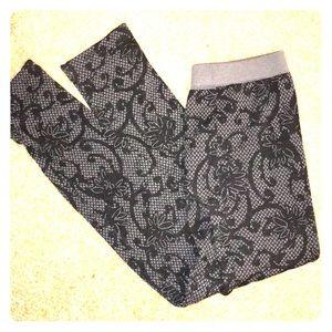 Pants - stretch pant legging rose pattern ultrasoft